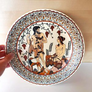 3/30$ 🍂 Vintage Greek Decorative Wall Hanging Plate Dionysus